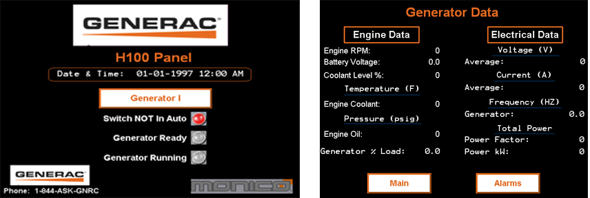 Generac HMI Pages