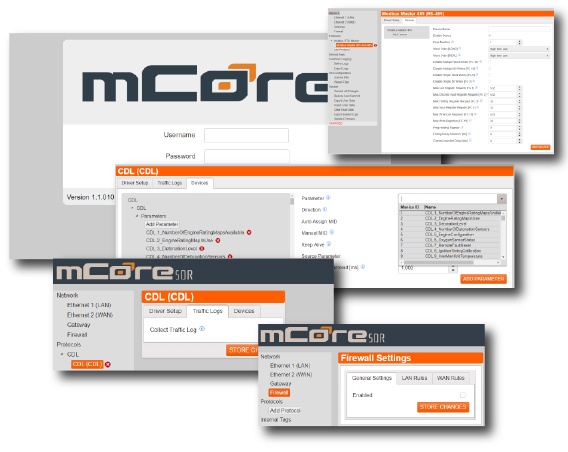 mCore®SDR User Interface